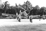 F4U-1A Corsair of Marine Squadron VMF-216 at Torokina, Bougainville, Solomon Islands, 10 Dec 1943.