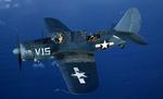 Curtiss SB2C Helldiver in flight, 1943-45.