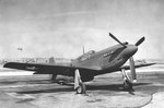 A-36A Apache aircraft #42-83663, probably at North American Aviation plant at Inglewood, California, United States, 1942. Photo 1 of 2