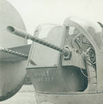 Close up view of a B-24 Liberator tail turret.
