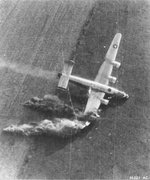 B-24J Liberator of the 854th Bomb Squadron after being hit by light-flak during low-level supply drop for the 82nd and 101st Airborne near Eindhoven, Holland and driven into the ground, Sep 18 1944.