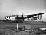 "B-24J Liberator ""The Shack"" of the 754th Bomb Squadron at RAF Horsham St Faith, Norfolk, England, UK, 1944-45."