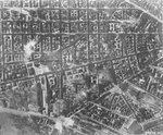 Reconnaissance photo of 8th Air Force bomb damage to Berlin, Germany; taken Feb 3 1945