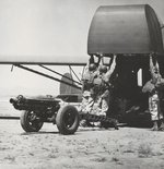82nd Airborne load a 75mm howitzer into a CG-4A Troop Glider during training at Oujda, French Morocco, North Africa a month before the Sicily invasion, Jun 11 1943.