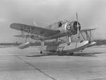 OS2U-2 Kingfisher of Scouting Squadron 2 on the seaplane ramp at NAS Quonset Point, Rhode Island, United States, Mar 20 1941. Photo 1 of 2