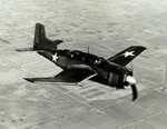 The XSB2D-1 prototype in flight, 1943.  Only two were built.  This was the prototype that was developed into the BTD Destroyer.