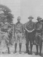US Marines in Nicaragua, Sep 1930. Lieutenants Chesty Puller, Avery Graves, Bill Lee, & Tom Lynch.