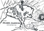 1897 Map of Pearl Harbor, Hawaii and surrounding lands.