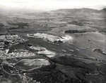Pearl Harbor Naval Shipyard and Ford Island Naval Air Station, Oahu, Hawaii, May 2, 1940.