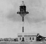 The mooring mast on the Ewa Plain, Oahu, Hawaii after being shortened to 50-ft, Mar 1932.
