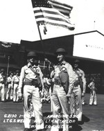 Lt George Welch and Lt Ken Taylor pose for a photograph after the ceremony at Wheeler Field, Hawaii, Jan 9, 1942 where each was presented with the Distinguished Service Cross for their actions on Dec 7, 1941.
