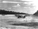 F4F-4 Wildcats of Marine Fighting Squadron VMF-441 on Nanumea Airfield, Ellice Islands, Oct 23, 1943