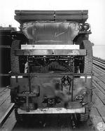Double stacked Jeeps packed for transport on Liberty Ship SS Esek Hopkins, Pier 2, Hampton Roads, Virginia, United States, Jul 10, 1944