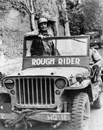 Brigadier General Theodore Roosevelt, Jr. in his Jeep