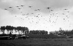 Elements of the US 82nd Airborne Division drop near Nijmegen, Netherlands as part of Operation Market Garden, Sep 17, 1944.