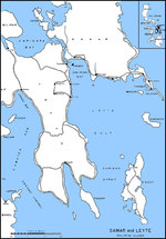 Map of Leyte Gulf, Philippine Islands