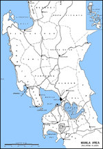 Map of Luzon, Philippines from Lingayen Gulf to Manila Bay