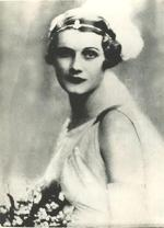 Wedding portrait of Amy Thorpe, 1936