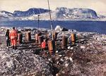 Canadian Coast Guard shore party making the first examination of the remnants of German Weather Station Kurt on the Hutton Peninsula, Newfoundland and Labrador, Canada on 21 Jul 1981, 38 years after it was deployed.