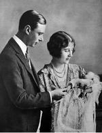 Prince Albert the Duke of York and the Duchess of York with their newborn daughter, Princess Elizabeth (the future Queen Elizabeth II), circa Jun 1926.