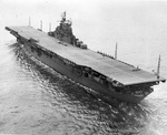 USS Yorktown (Essex-class) at Norfolk, Virginia, United States, 27 Apr 1943