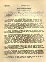 Letter from the Captain of the carrier Ticonderoga, William Sinton, to the ship?s officers and men about what to expect in the days immediately following the Japanese surrender, 16 Aug 1945