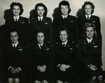 Eight WASP pilots assigned to Greenville AAF, Greenville, Mississippi, United States, Aug 1944. Deanie Bishop is in the front row, second from the right.