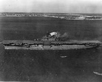 USS Essex at Hampton Roads, Virginia, United States, 1 Feb 1943. Photo 2 of 2.