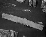 Franklin in the Elizabeth River, off Norfolk, Virginia, United States, 21 Feb 1944, photo 1 of 4