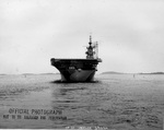 USS Wasp (Essex-class) after her shakedown cruise preparing to leave Boston, Massachusetts, United States, for the Panama Canal, 15 Mar 1944. Note Measure 33/10A camouflage. Photo 3 of 4