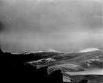 Heavy seas getting heavier as USS Wasp (Essex-class) steams into a typhoon south of Japan, 25 Aug 1945.