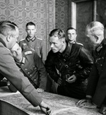 Red Commander Vladimir Yulianovich Borovitsky and German General Heinz Guderian in Brest, Poland (now Brest, Belarus) to work out the German-Soviet boundary demarcation of occupied Poland, 21 Sep 1939. Photo 2 of 2