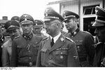 Reich Commissioner Heinrich Himmler and his entourage on a tour of the Mauthausen concentration camp in Austria, 27 Apr 1941