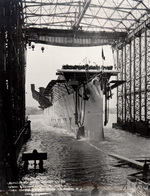 Launching of the Light Carrier Cabot, 4 Apr 1943, Camden, New Jersey, United States.
