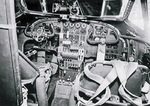Cockpit and flight controls in a Focke-Wulf 200 Condor bomber, date and location unknown.