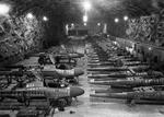 Partly completed Heinkel He-162 Volksjäger jet fighters in a salt mine at Tarthun (now Bördeaue), Germany, April 1945.
