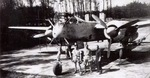 Crew standing in front of a Heinkel He-219 Uhu night fighter, date and location unknown.