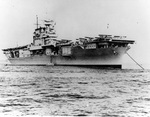 USS Enterprise at anchor, 1938-40, location unknown