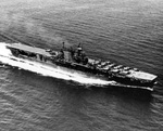 USS Enterprise steaming in the Caribbean en route New York, United States, 12 Oct 1945