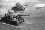 T-34-85 tanks in northeastern China, Aug 1945