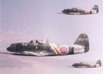 N1K2-J Shiden-kai fighters in flight, date unknown