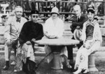 Puyi, Wan Rong, and foreign visitors, China, Mar 1932
