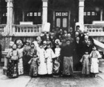 Puyi with his family and foreign visitors, date unknown