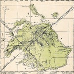 United States Hydrographic Office July 1943 map of Efate Island, New Hebrides (now Vanuatu) showing friendly aircraft approach bearings.