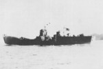 Japanese Navy landing ship No. 149 running trials off Yugeshima in the Inland Sea of Japan, 16 Feb 1944