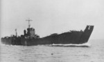 Japanese landing ship No. 151 running trials off Yugeshima in the Inland Sea of Japan, 20 Apr 1944