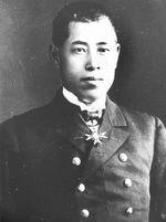 Portrait of Isoroku Yamamoto, circa 1937; note Order of the Golden Kite at collar