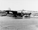 B-26 Marauder with the 73rd Bomb Squadron armed with a Mark XIII aerial torpedo at Fort Randall Army Airfield, Cold Bay, Alaska, 11 May 1942