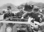 Chiang Kaishek inspecting a L3/33 tankette, China, 1930s