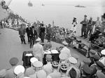 General Umezu signing the instrument of surrender, Tokyo Bay, Japan, 2 Sep 1945, photo 4 of 4